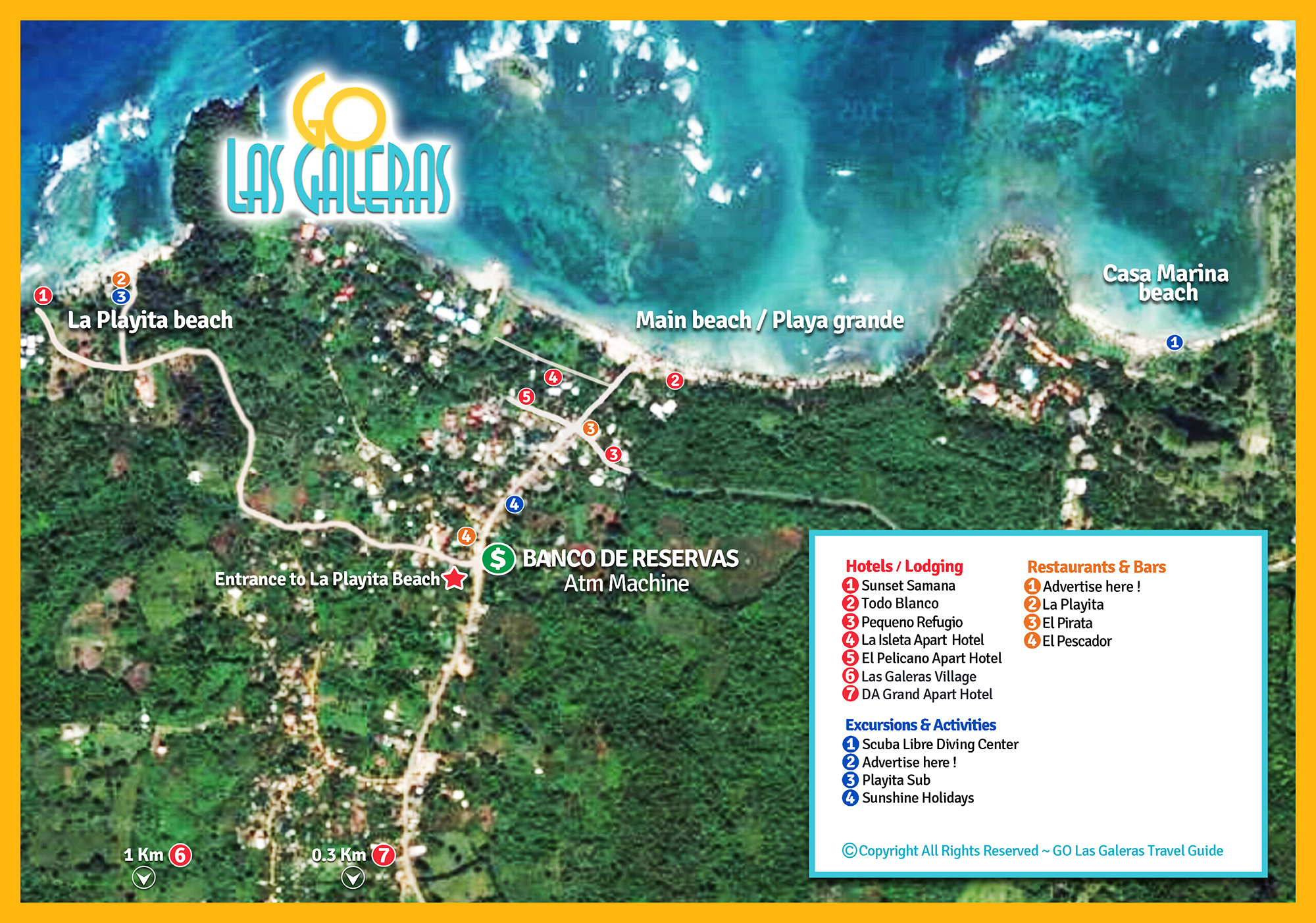 Map Of Las Galeras Detailed Map Of Las Galeras Town In Samana - Dominican republic map